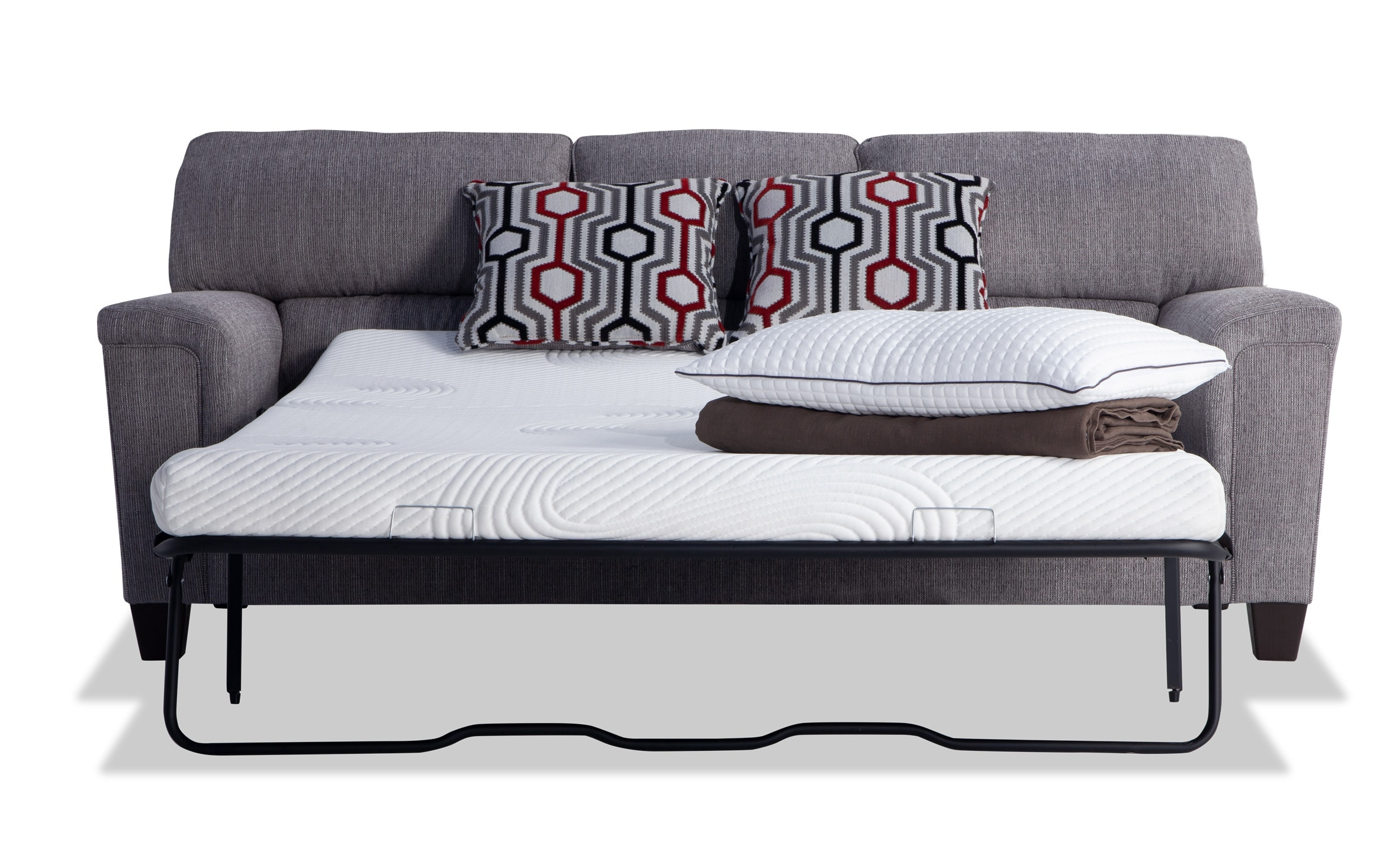 - Calvin Concrete Gray Bob-O-Pedic Queen Sleeper Sofa Bobs.com