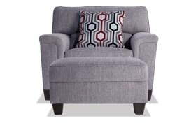Calvin Concrete Gray Chair & Storage Ottoman