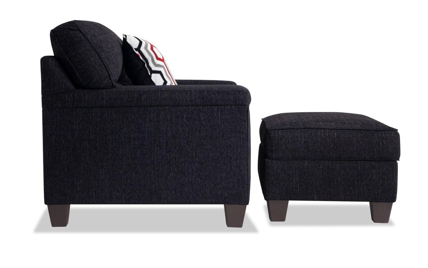 Calvin Sofa, Chair & Storage Ottoman