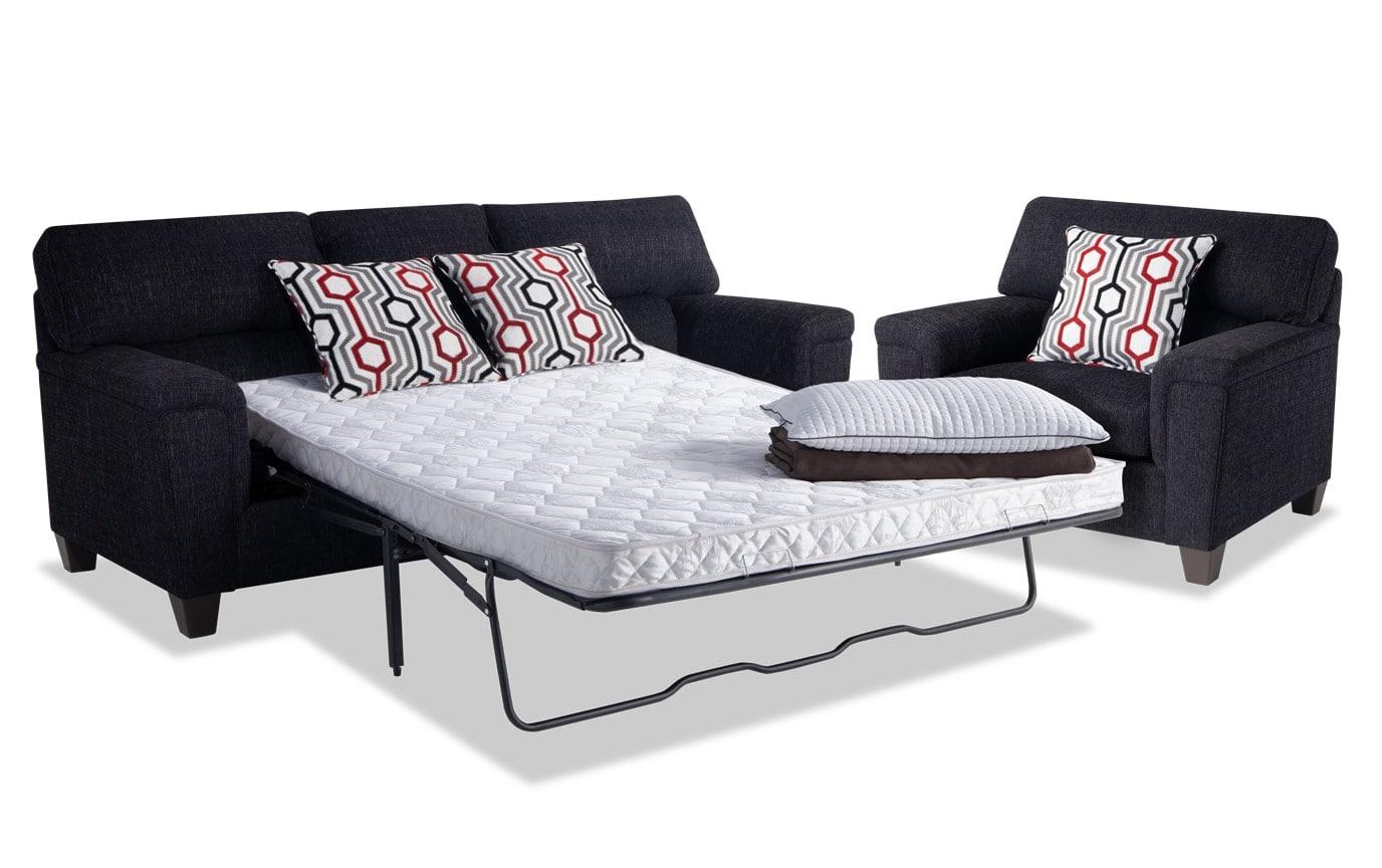 Calvin Queen Innerspring Sleeper Sofa & Chair