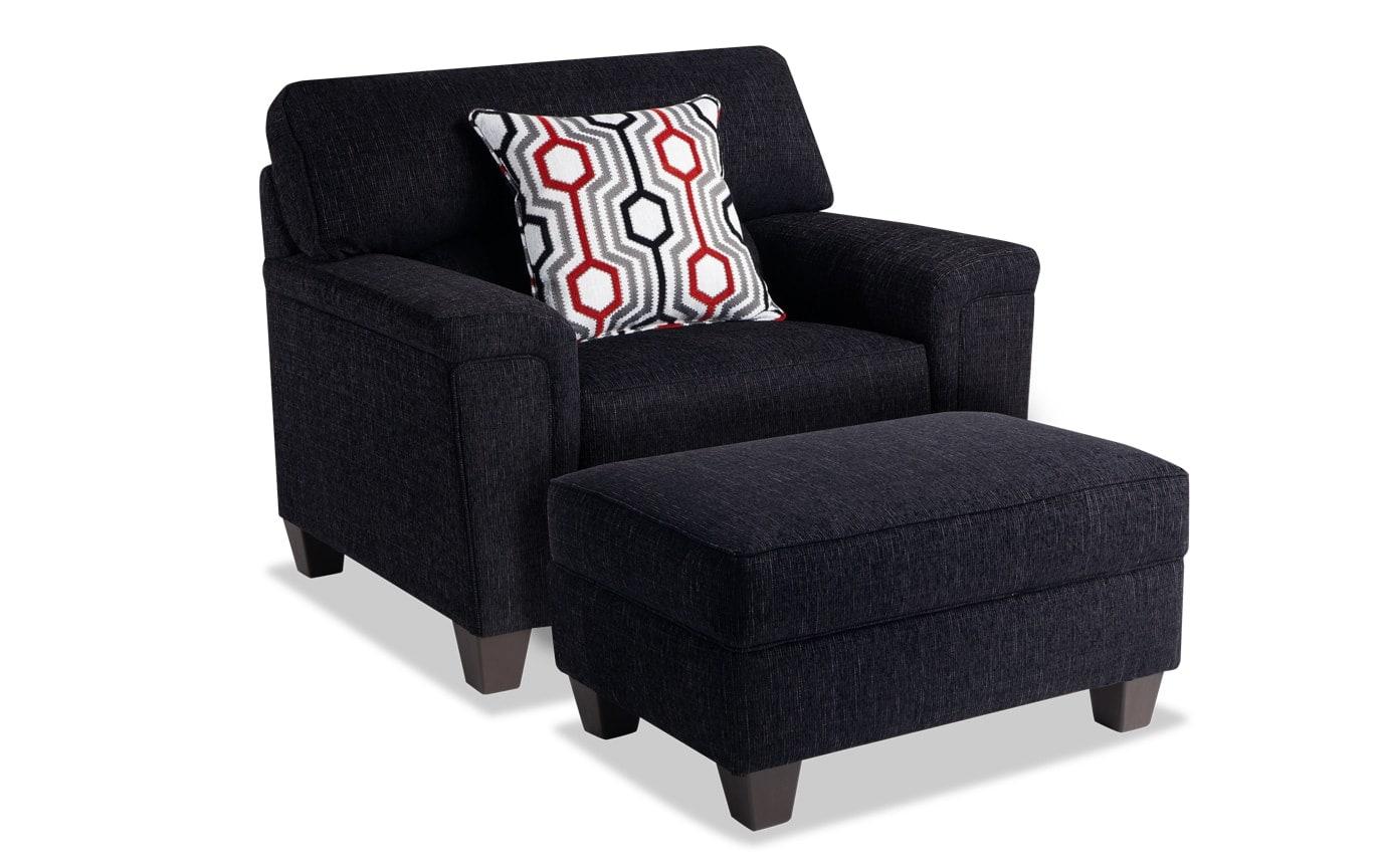 Calvin Chair & Storage Ottoman