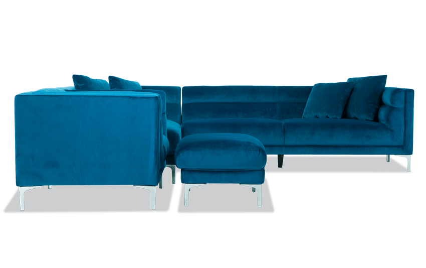 Elegance 2 Piece Right Arm Facing Sectional, Chair & Ottoman