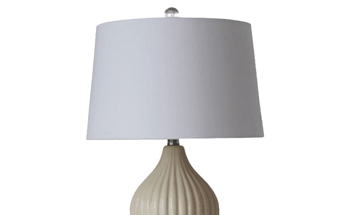 Set of 2 Crackle Cream Table Lamps