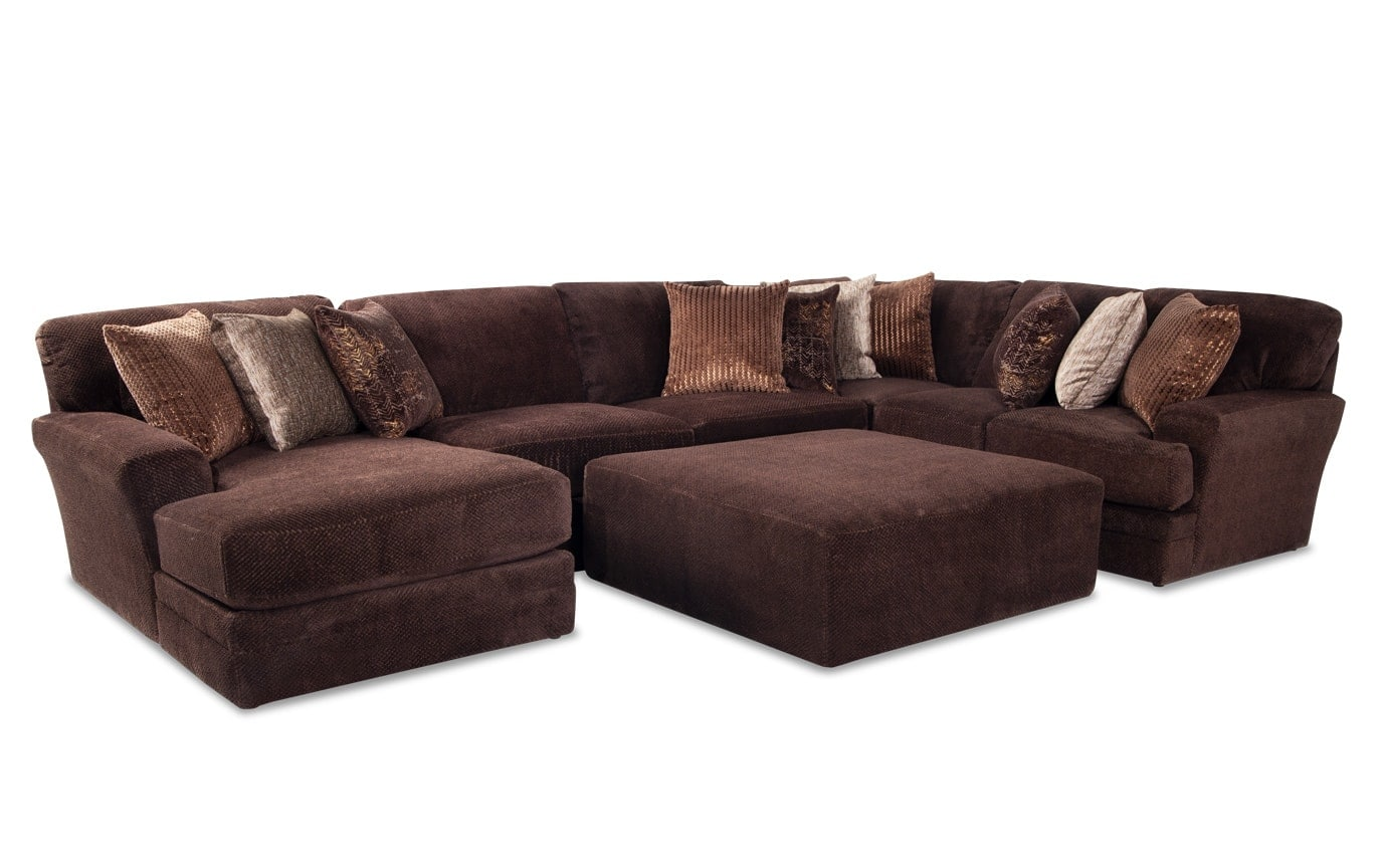 Sensation 5 Piece Right Arm Facing Sectional Bobs Com
