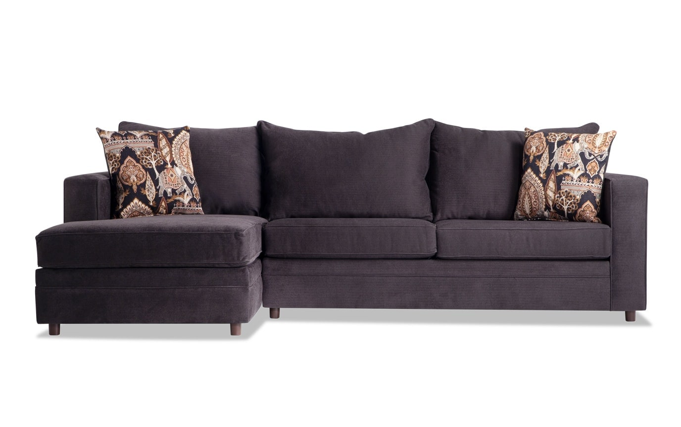 Ivan Charcoal Right Arm Facing Sectional