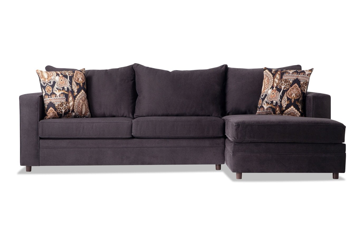 Ivan Charcoal Left Arm Facing Sectional