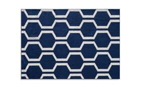 Honeycomb 5' x 7' Navy Rug