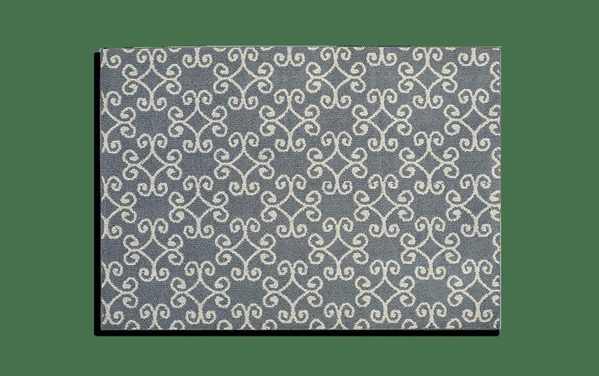 Charcoal Scroll Rug 5' x 7'