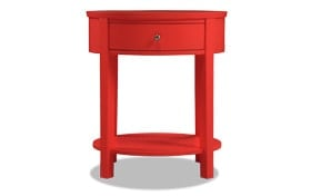 Rainey Red Accent Table