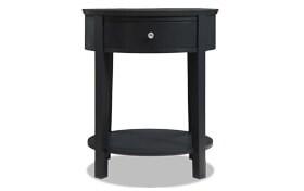 Rainey Black Accent Table