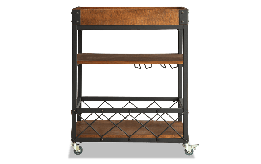 Zoey Brown Bar Cart
