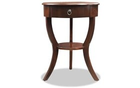 Evan Espresso Side Table
