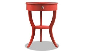 Evan Red Side Table