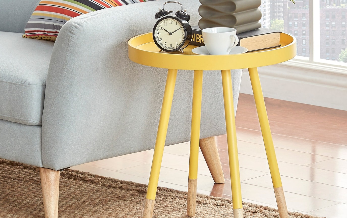 Fitz Banana Yellow End Table