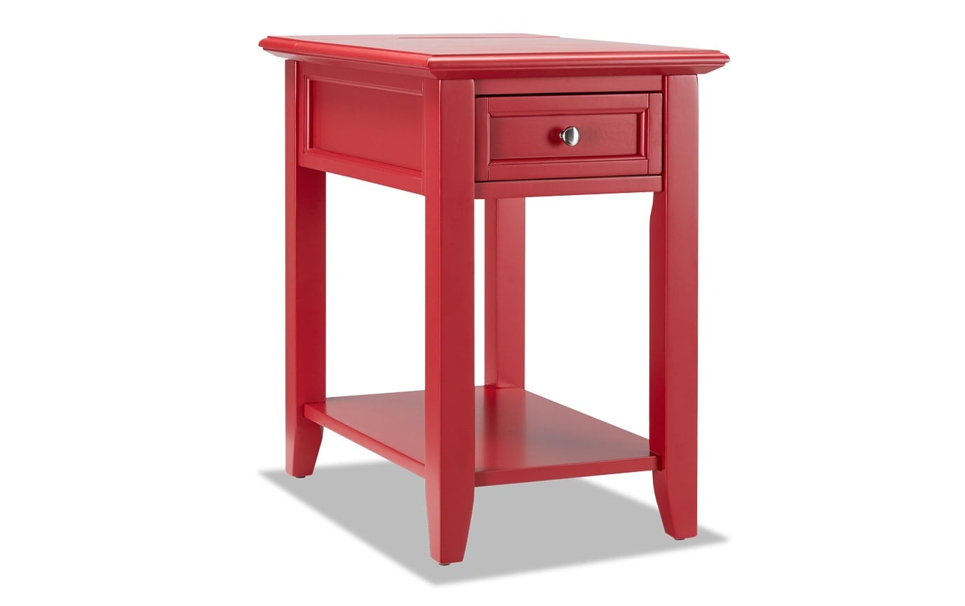 Irving Red End Table