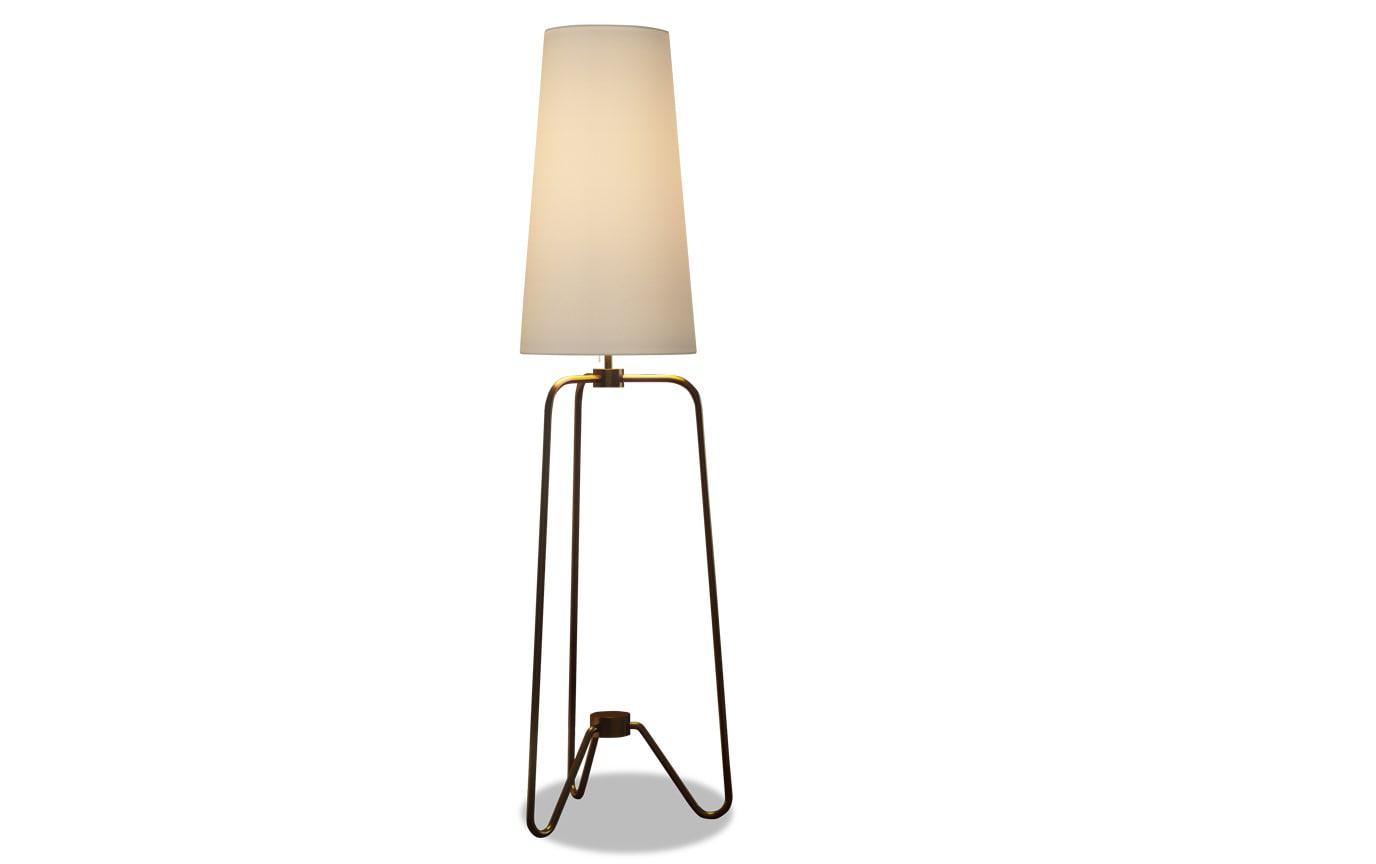 Narduk Floor Lamp in Antique Brass