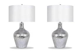 Set of 2 Delilah Glass Table Lamps