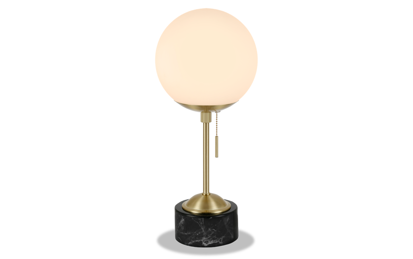 Raelyn Table Lamp in Brass and Marble
