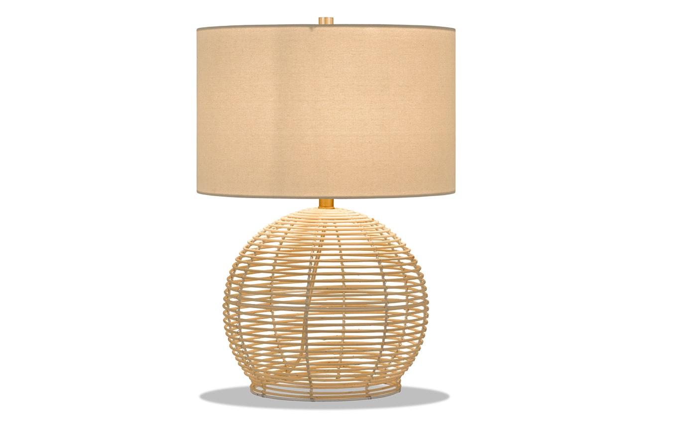 Brian Table Lamp in Rattan