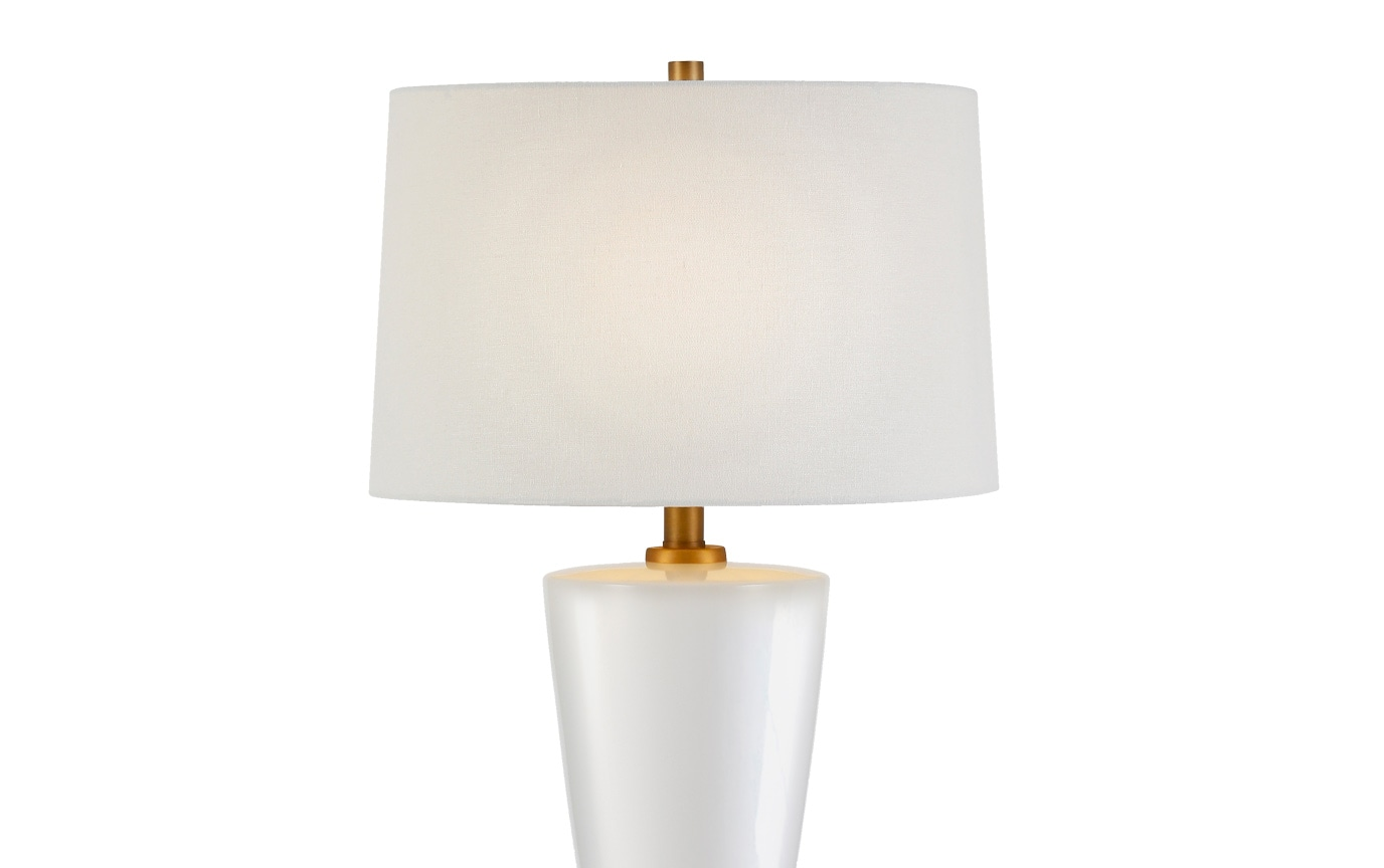 Vera Table Lamp in Wood and Ceramic