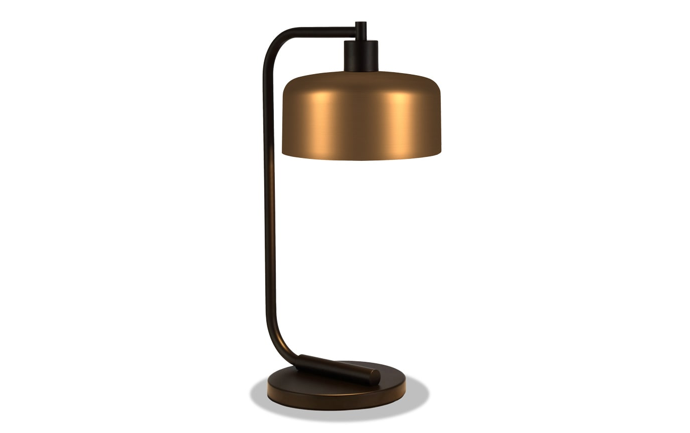 Chad Table Lamp in Antique Brass