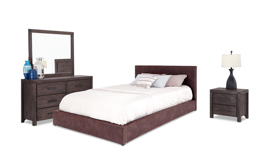 Austin Twin Upholstered Bedroom Set