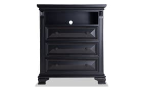 Palisades Black TV Chest
