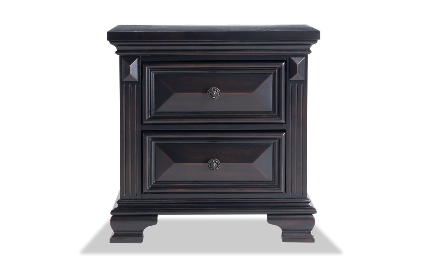 Palisades Black Nightstand