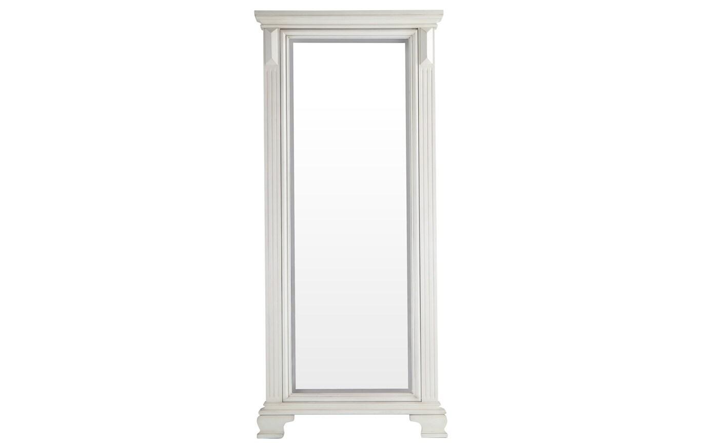 Palisades White Cheval Mirror
