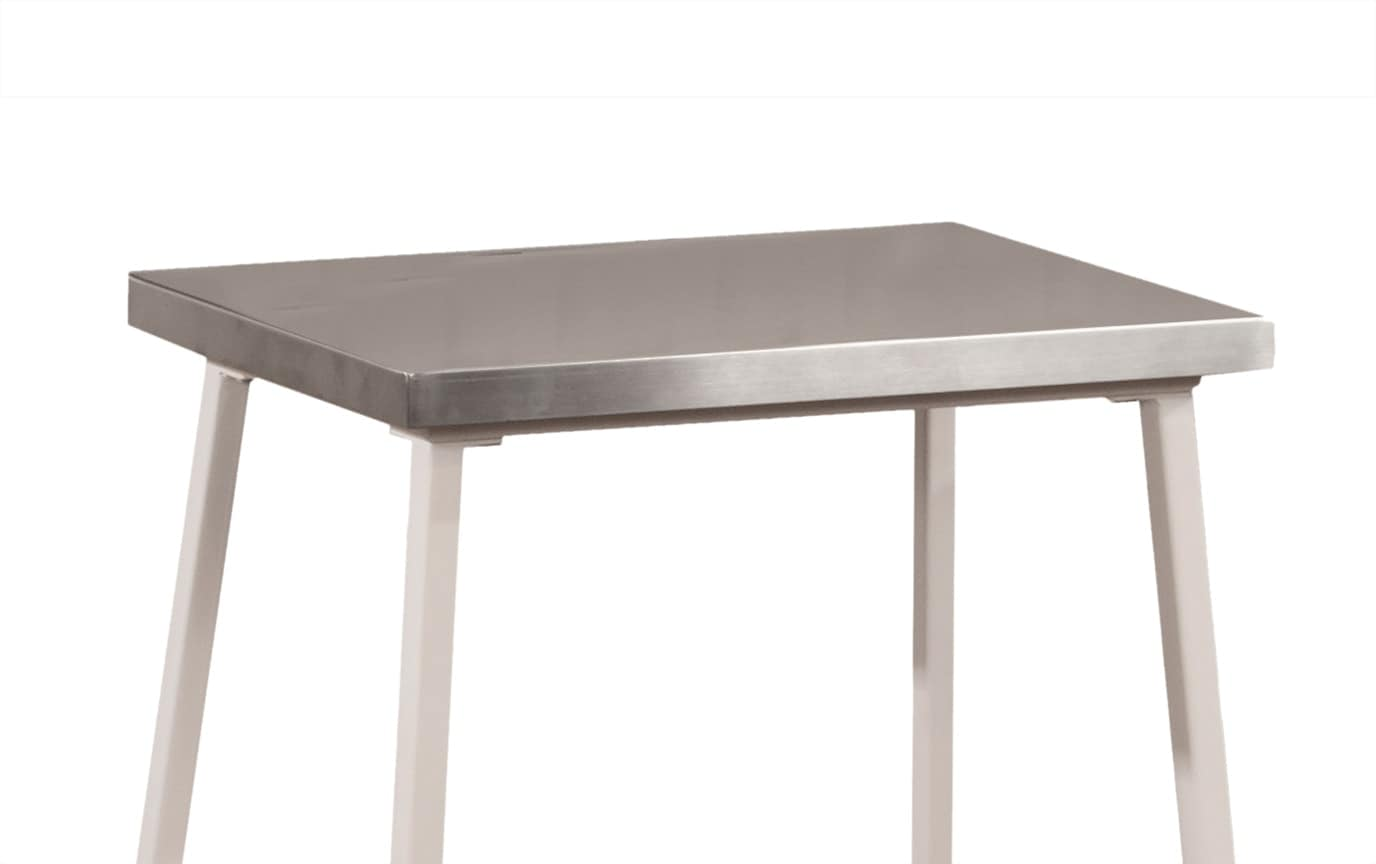 Kylie White Backless Stool