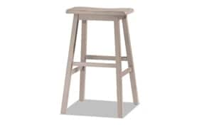 Frida Distressed Gray Counter Backless Stool