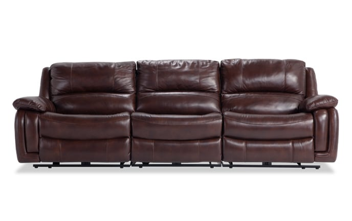 Titan Leather Power Reclining Sofa