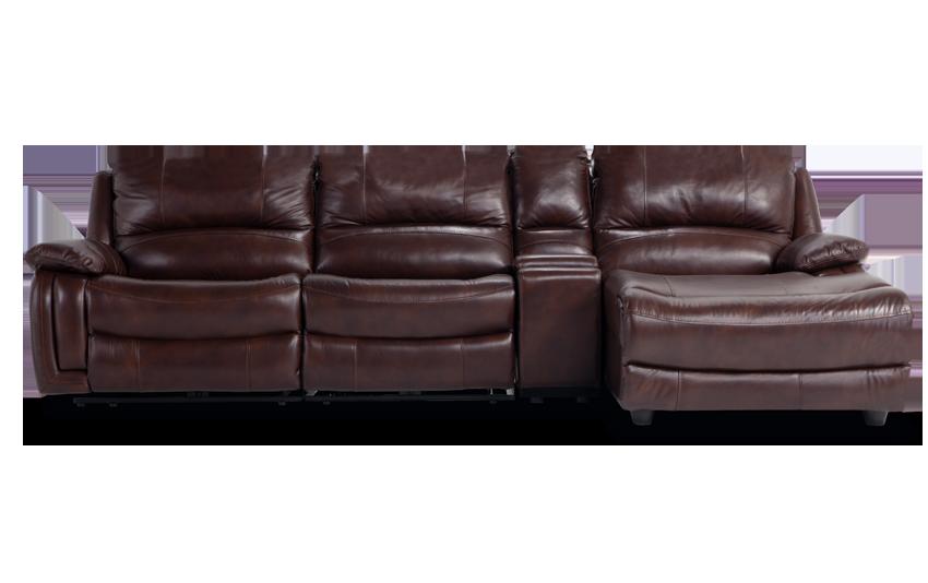 Titan Leather 4 Piece Power Reclining Left Arm Facing