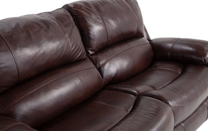 Titan Leather Power Reclining Loveseat