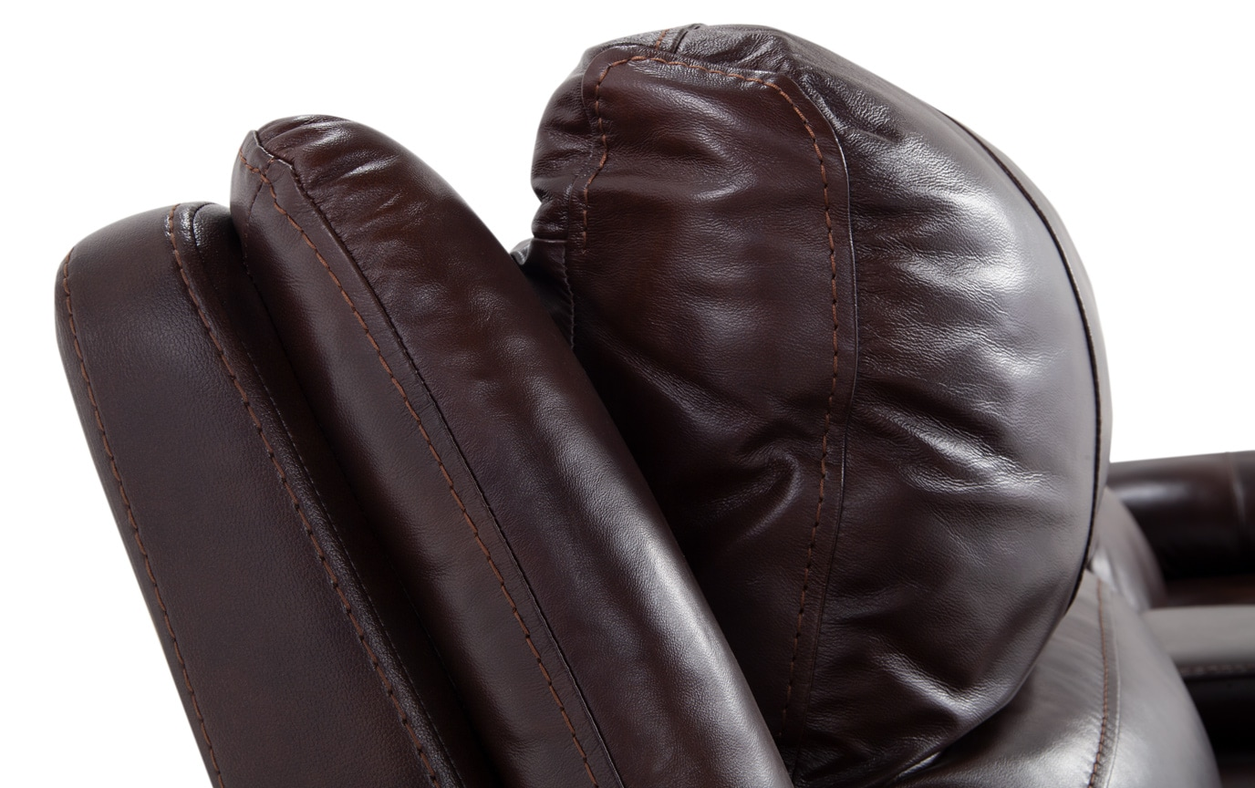 Titan Leather Power Reclining Loveseat