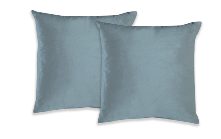 Set of 2 Spa Blue Velvet Pillows