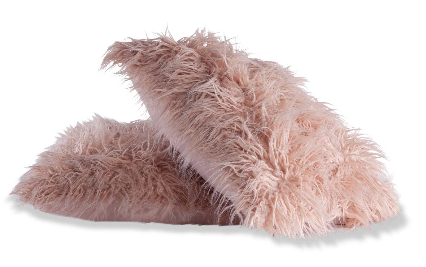 Set of 2 Faux Fur Pillows