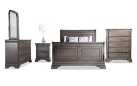 Louie Louie Queen Gray Bedroom Set