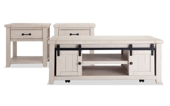 Montana White Coffee Table Set