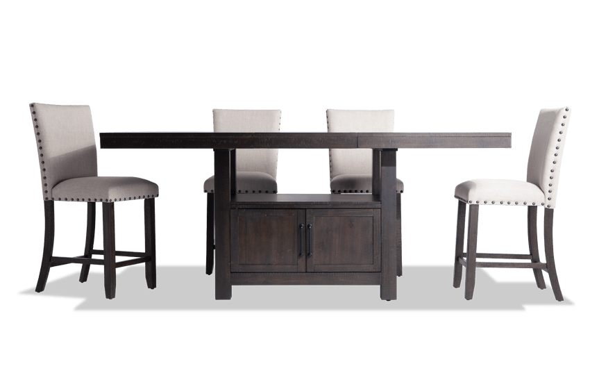 Sonoma 5 Piece Counter Set with Upholstered Stools