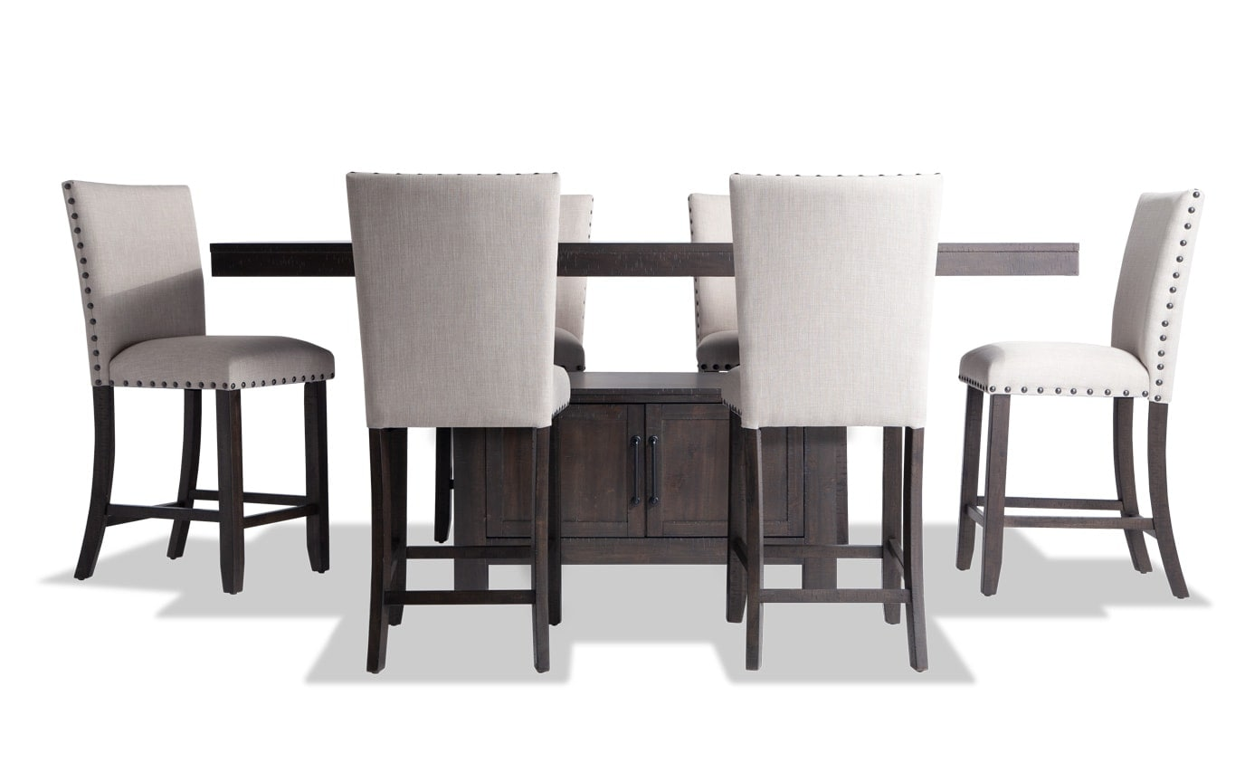 Sonoma 7 Piece Counter Set with Upholstered Stools