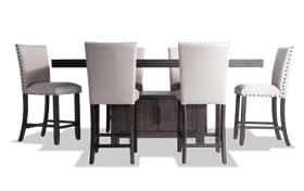 Sonoma 7 Piece Espresso Counter Set with Upholstered Stools