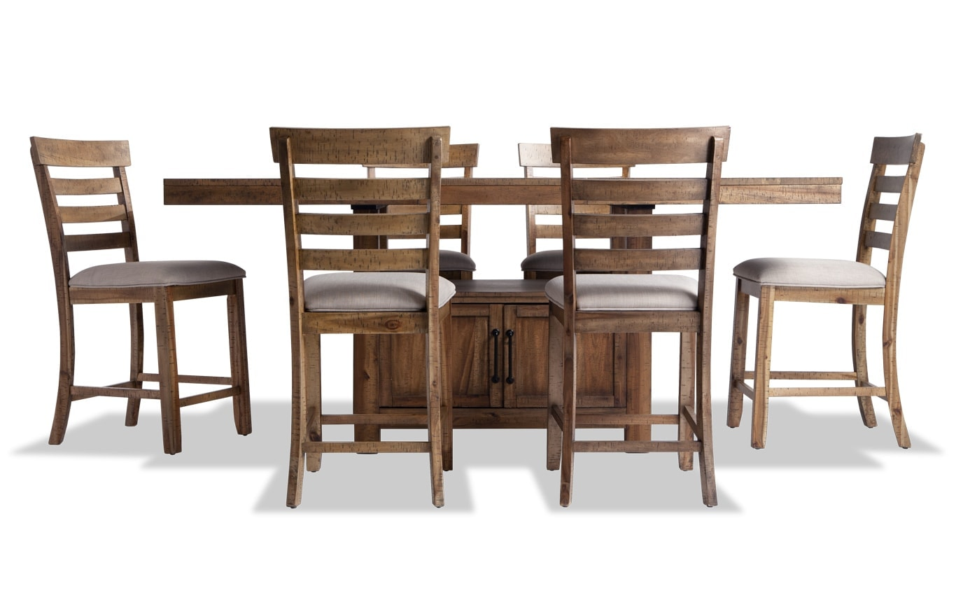 Sonoma 7 Piece Natural Counter Set