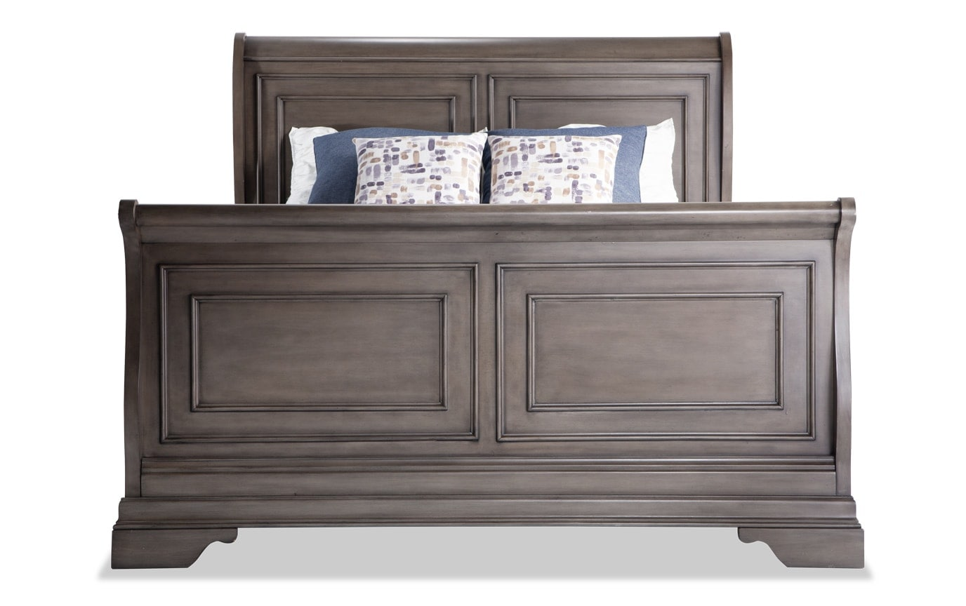 Louie Louie California King Gray 7 Piece Bedroom Set