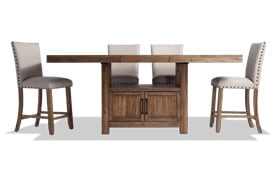 Sonoma Natural 5 Piece Counter Set with Upholstered Stools