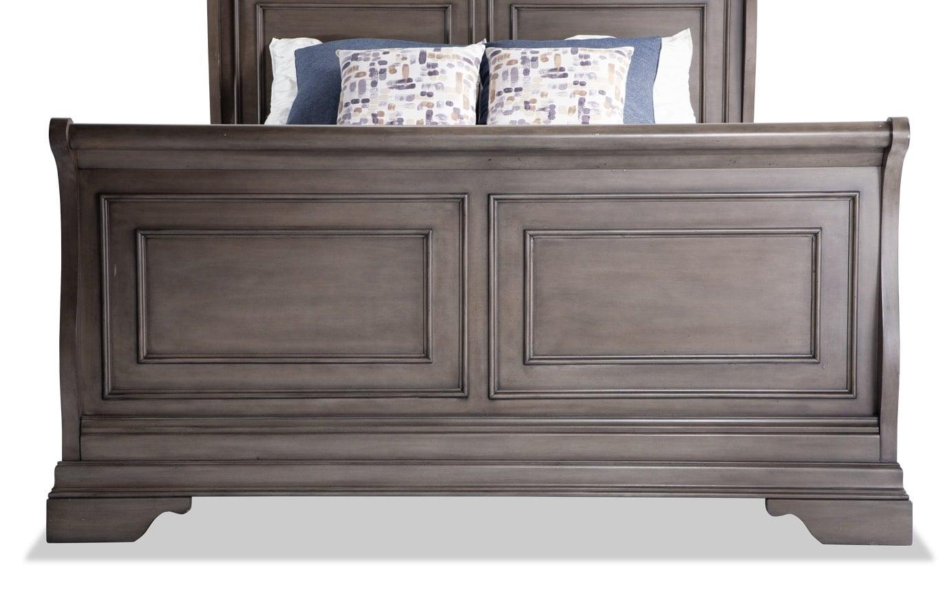 Louie Louie Full Gray 7 Piece Bedroom Set