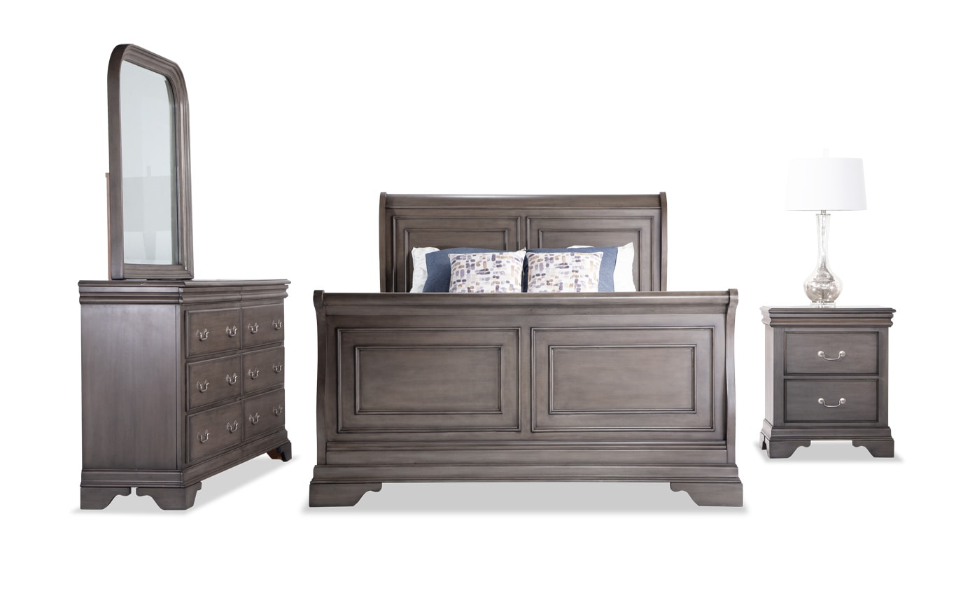 Louie Louie Twin Gray Bedroom Set