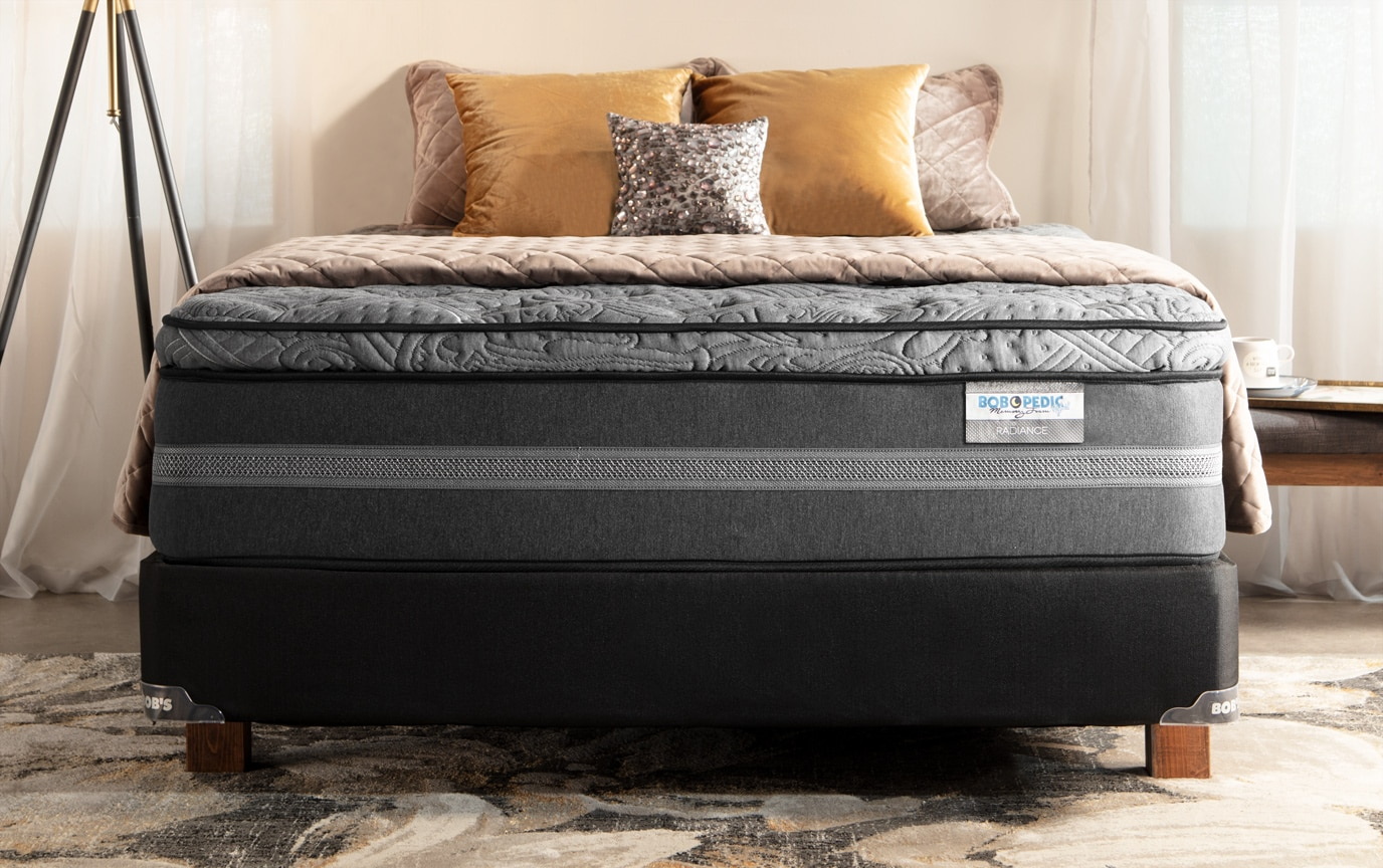 Bob O Pedic Hybrid Radiance Queen Plush Mattress Set Bobs Com