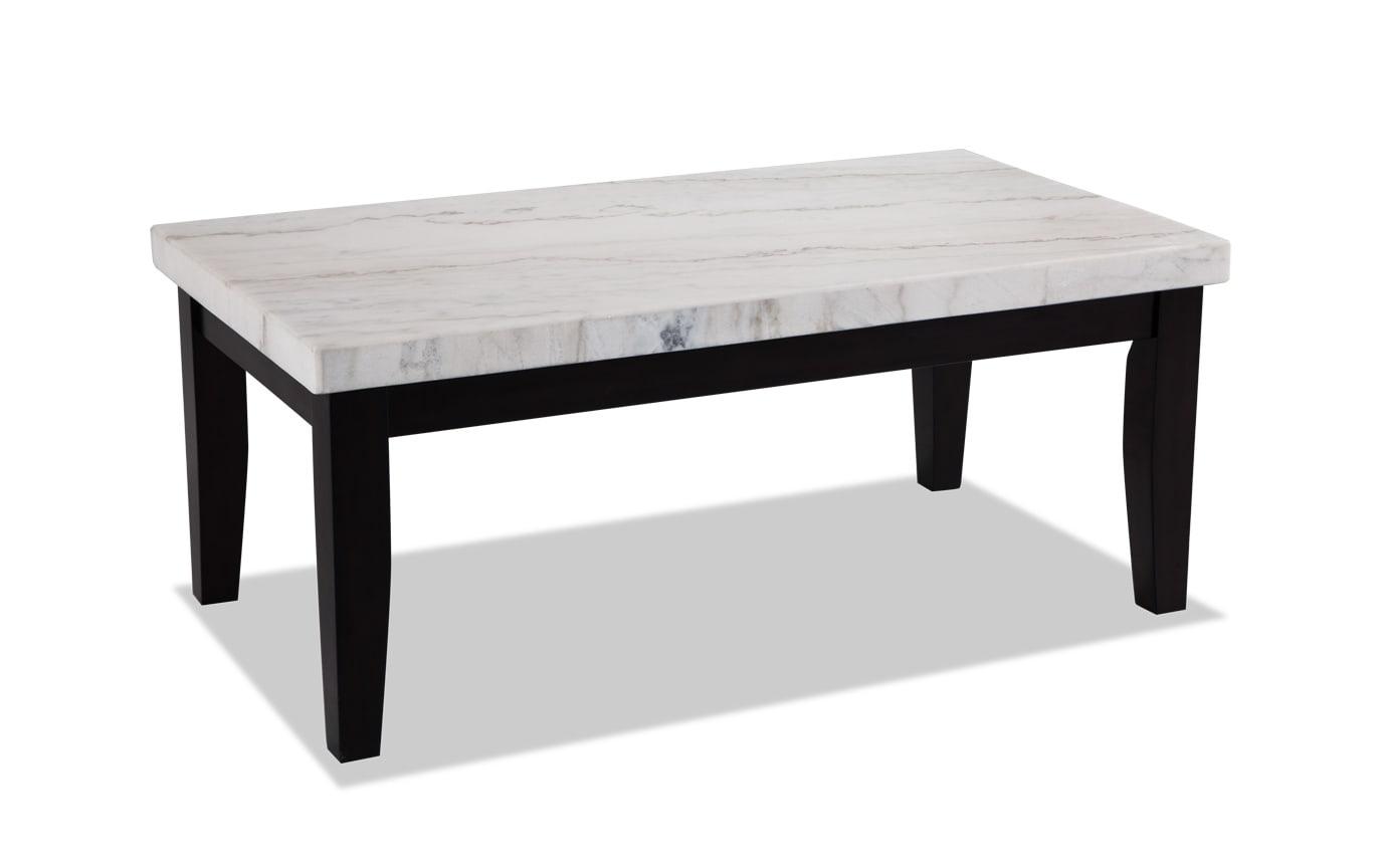 Montibello White Marble Coffee Table Set