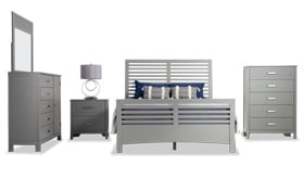 Dalton California Gray King Bedroom Set